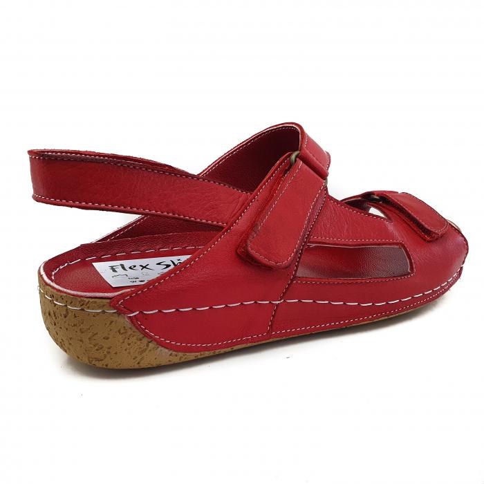 Sandale dama casual confort COD 398 ROSU 2