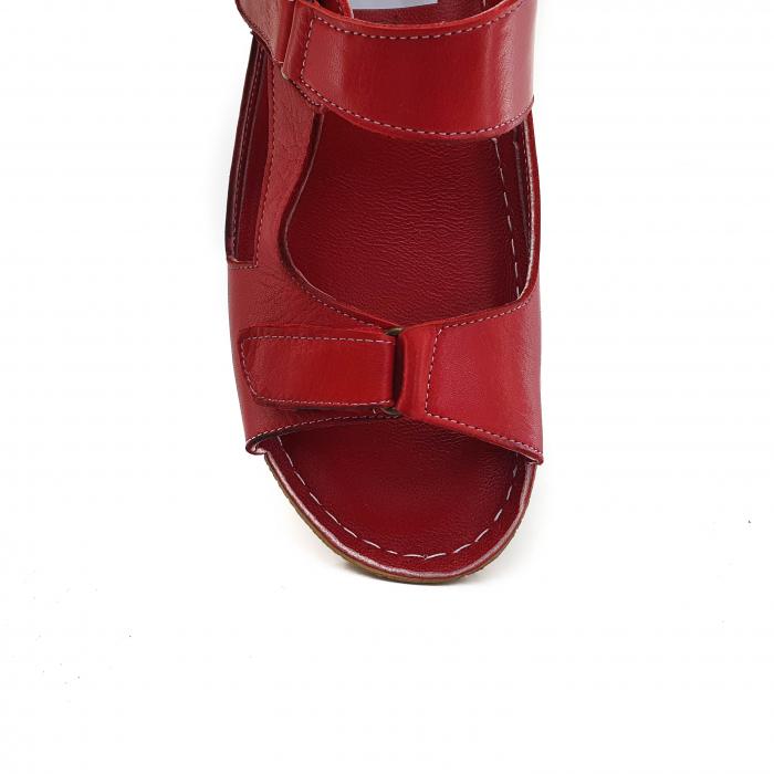 Sandale dama casual confort COD 398 ROSU 3