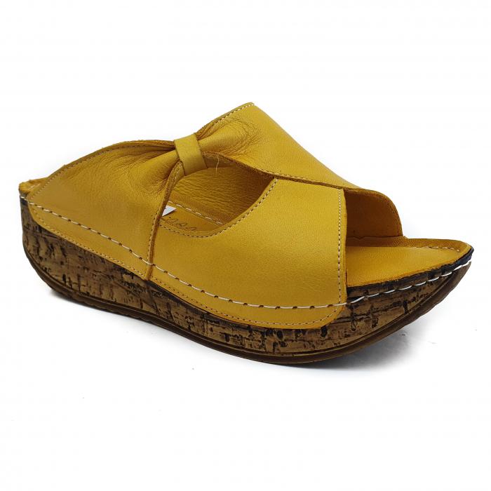 Sandale dama casual confort COD MU/505 GALBEN 0