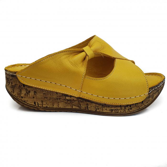 Sandale dama casual confort COD MU/505 GALBEN 1