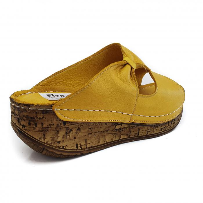 Sandale dama casual confort COD MU/505 GALBEN 2
