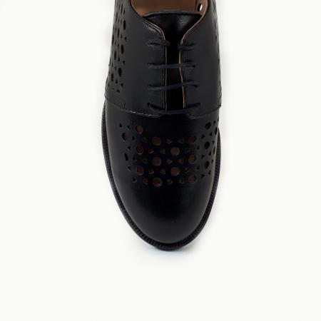 Pantofi dama casual perforati din piele naturala COD-7143