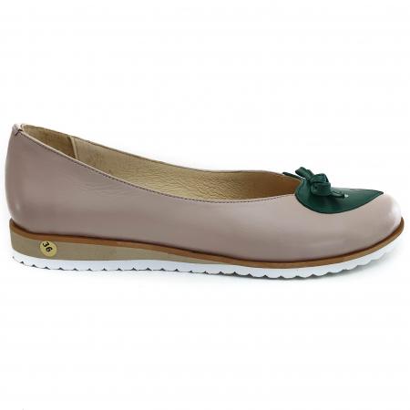 Pantofi dama balerine confort din piele naturala COD-873 [1]