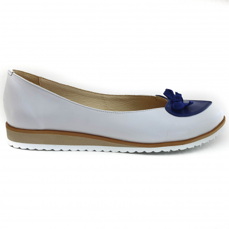Pantofi dama balerine confort din piele naturala COD 2025 B+A+BL1