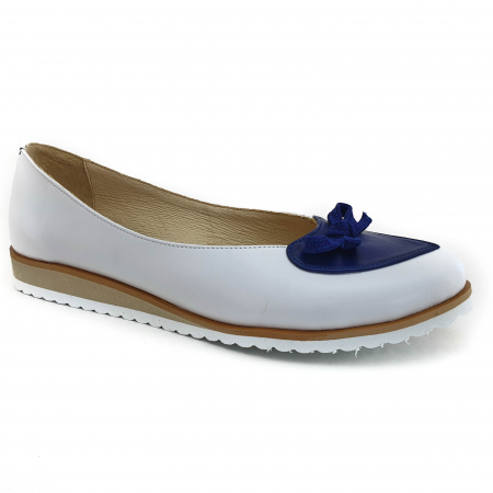 Pantofi dama balerine confort din piele naturala COD 2025 B+A+BL0