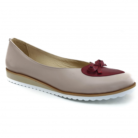 Pantofi dama balerine confort din piele naturala COD-874 [0]
