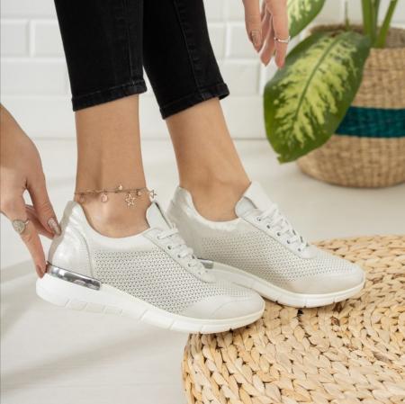 Pantofi dama casual confort din piele naturala COD-8173