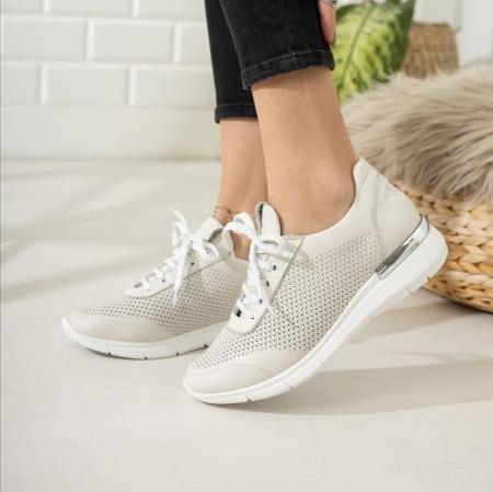 Pantofi dama casual confort din piele naturala COD-8172
