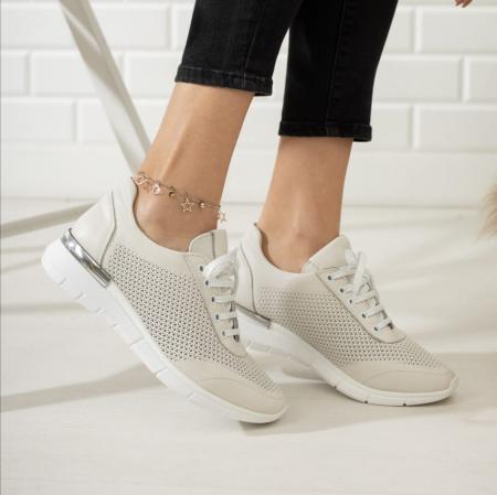 Pantofi dama casual confort din piele naturala COD-8170