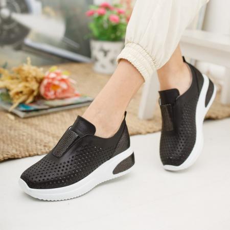 Pantofi dama casual confort din piele naturala COD-8191
