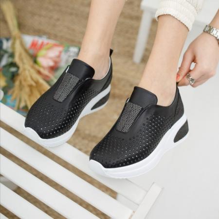 Pantofi dama casual confort din piele naturala COD-8190