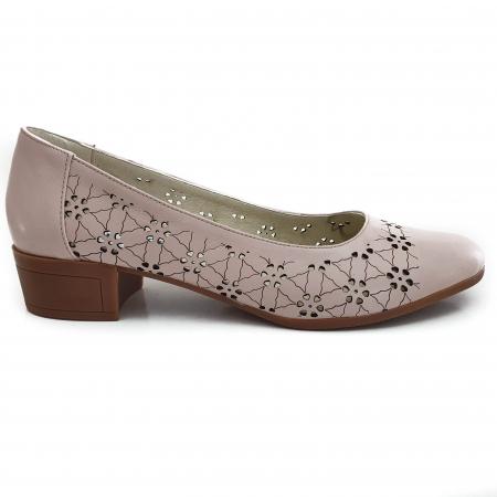 Pantofi dama casual confort din piele naturala COD-8311