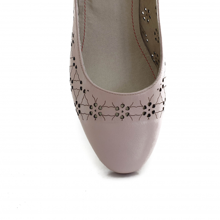 Pantofi dama casual confort din piele naturala COD-8313