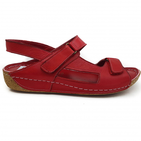 Sandale dama casual confort COD 398 ROSU1