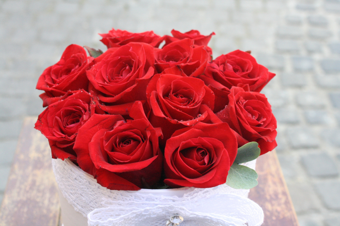 11 Red Roses in Box 0