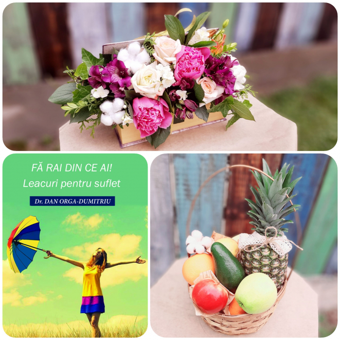 "Pachet ""Thanks for helping us BLOOM!"" Flori, fructe si carte cadou! 5"