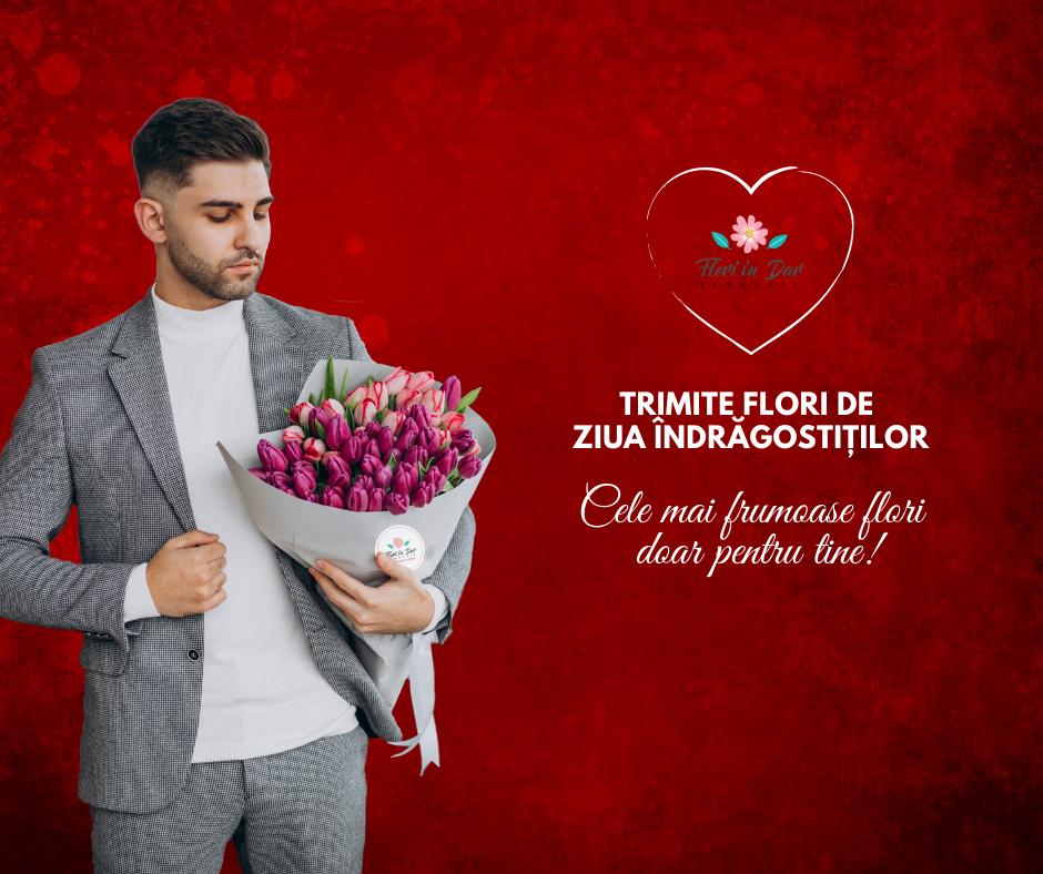 Buchete de flori de Ziua Îndrăgostiților