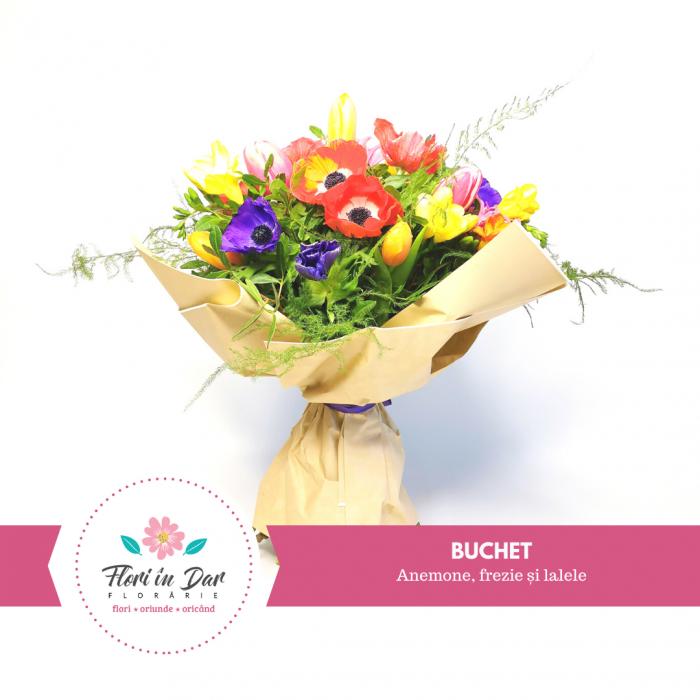 Buchet anemone,frezie și lalele [0]