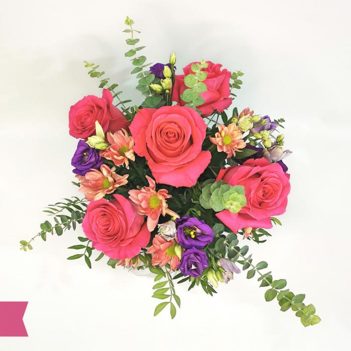 Aranjament floral trandafir,eustoma,criantema [1]