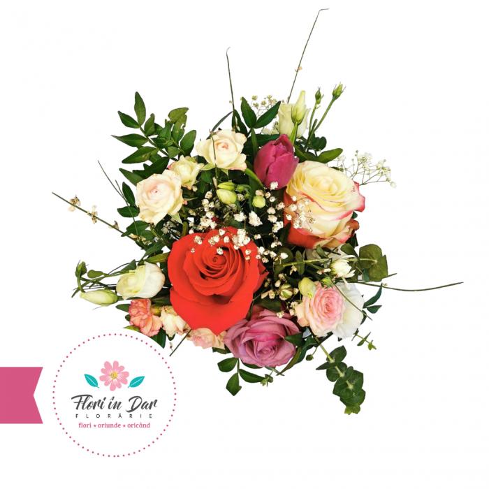 Aranjament cosulet florarie online Roman [1]