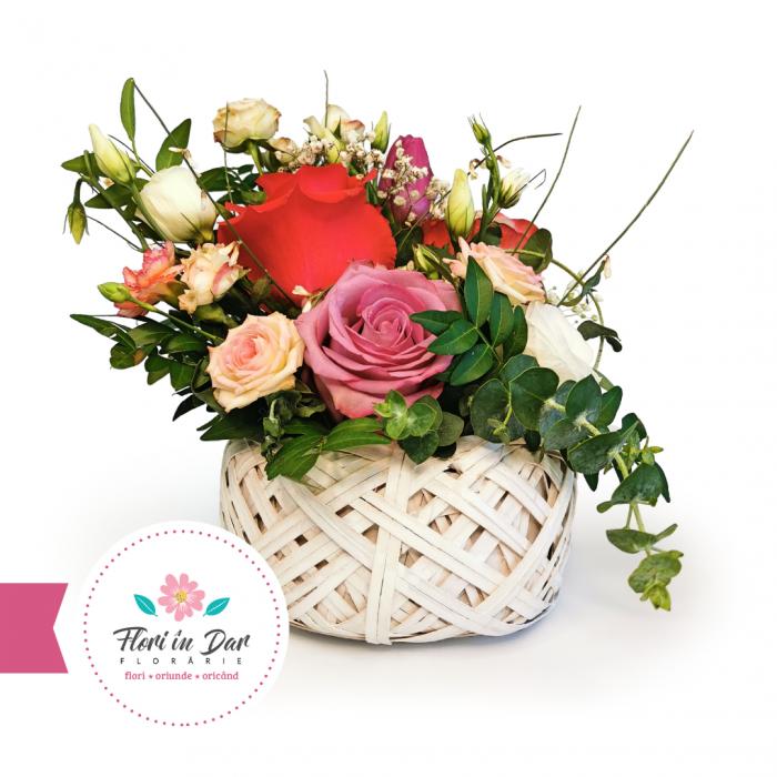 Aranjament cosulet florarie online Roman [0]