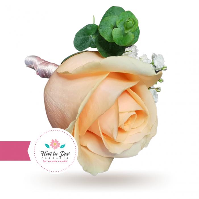 Cocarda mire cu trandafir gipsofila eucalipt [1]