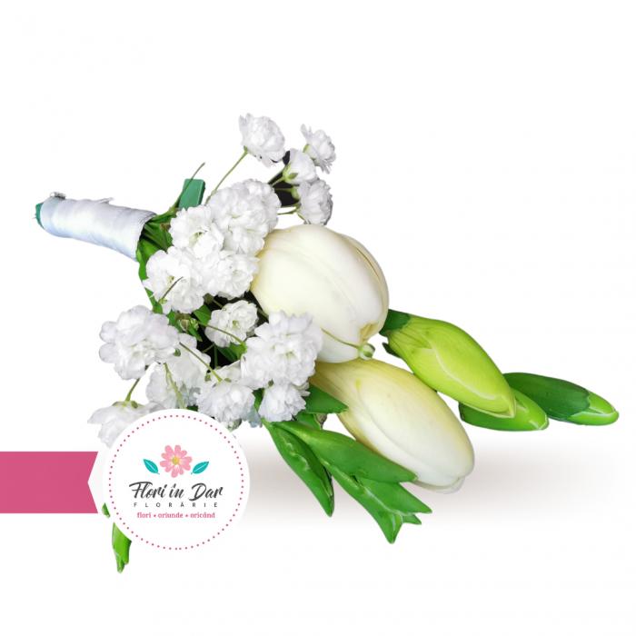 Cocarda mire flori naturale frezie gipsofila [0]