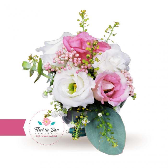 Corsaj tip bratara de mana domnisoare de onoare flori naturale [0]