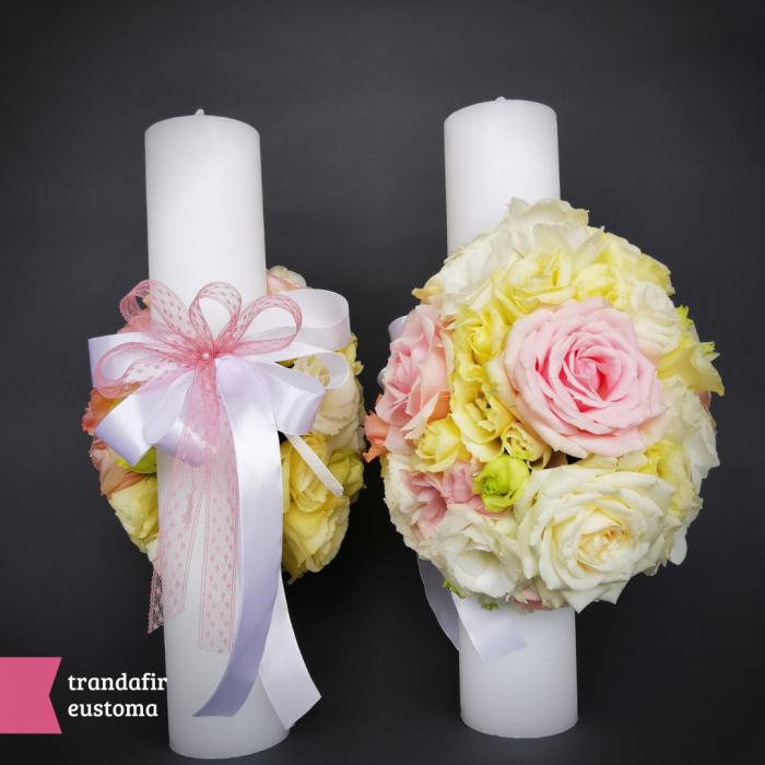 Lumanari nunta si cununie din flori naturale [1]