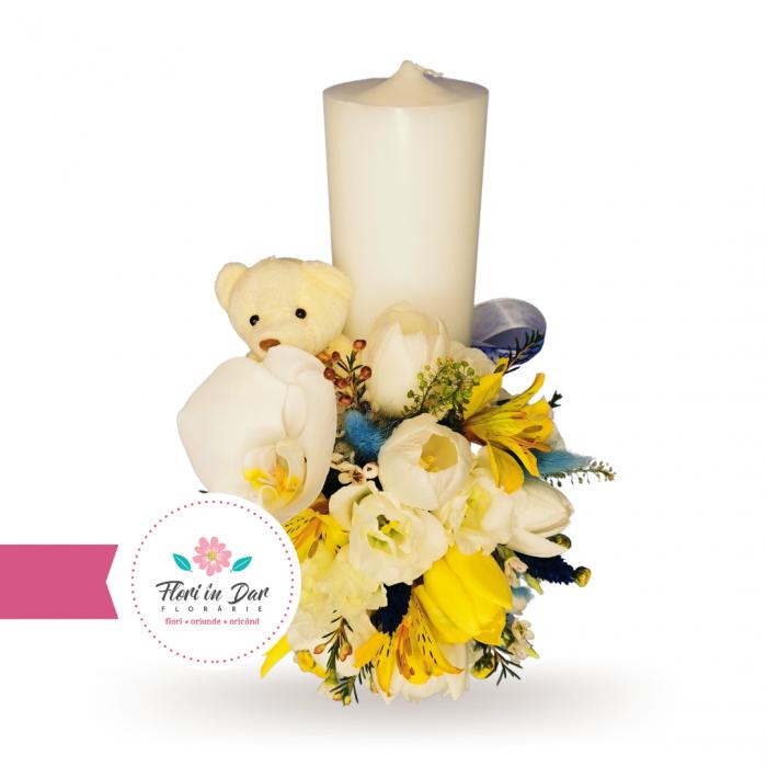 Lumanari botez flori naturale florarie online Roman [2]