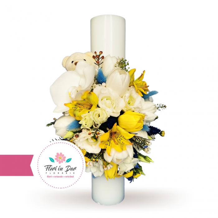 Lumanari botez flori naturale florarie online Roman [0]