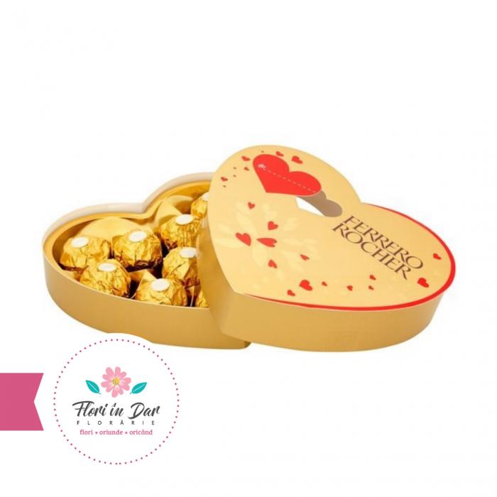 Praline forma inima St Valentine 125g Ferrero florarie Roman online [0]