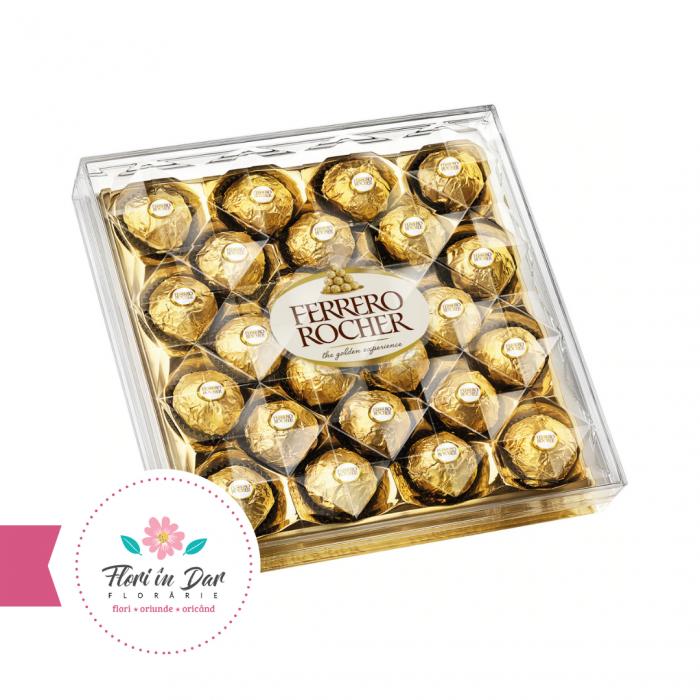 Praline Ferrero Rocher, 24 bomboane, 300g florarie Roman online [0]