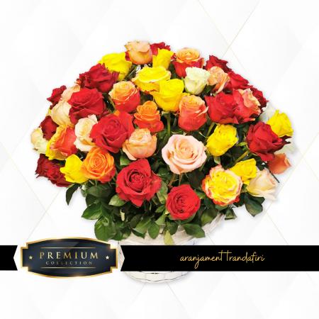 Aranjament premium trandafiri Roman [0]
