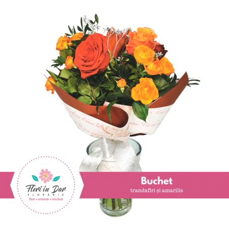 Buchet cu trandafiri și amarilis [0]