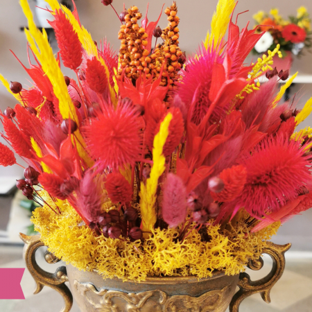 Aranjmant floral flori uscate Roman [1]