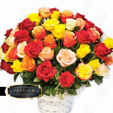 Aranjament premium trandafiri Roman [1]