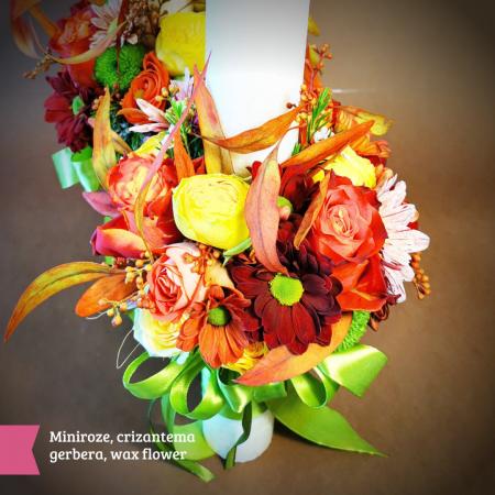 Lumanari nunta si cununie din flori naturale [2]