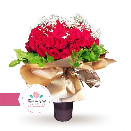 Buchet premium 101 trandafiri [0]