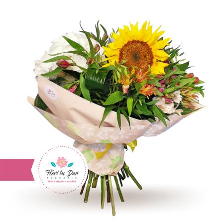 Buchet de flori cu floarea soarelui [0]