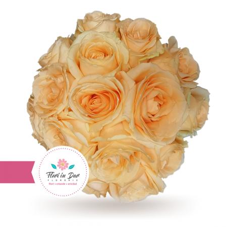 Buchet mireasa trandafiri roz [1]