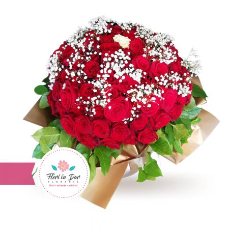 Buchet premium 101 trandafiri [1]