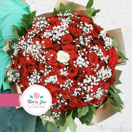 Buchet premium 101 trandafiri [2]