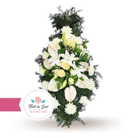 Coroana cu anthurium crin trandafir crizantema [0]
