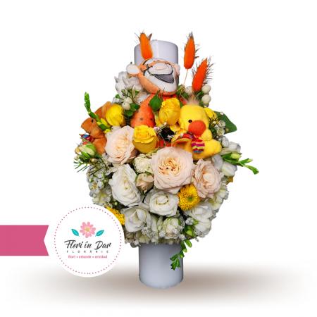 Lumanare botez tematica flori naturale [0]