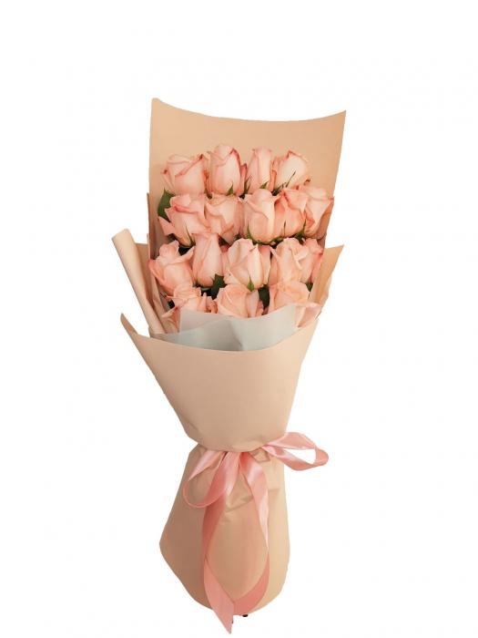 Buchet 17 trandafiri roz [0]