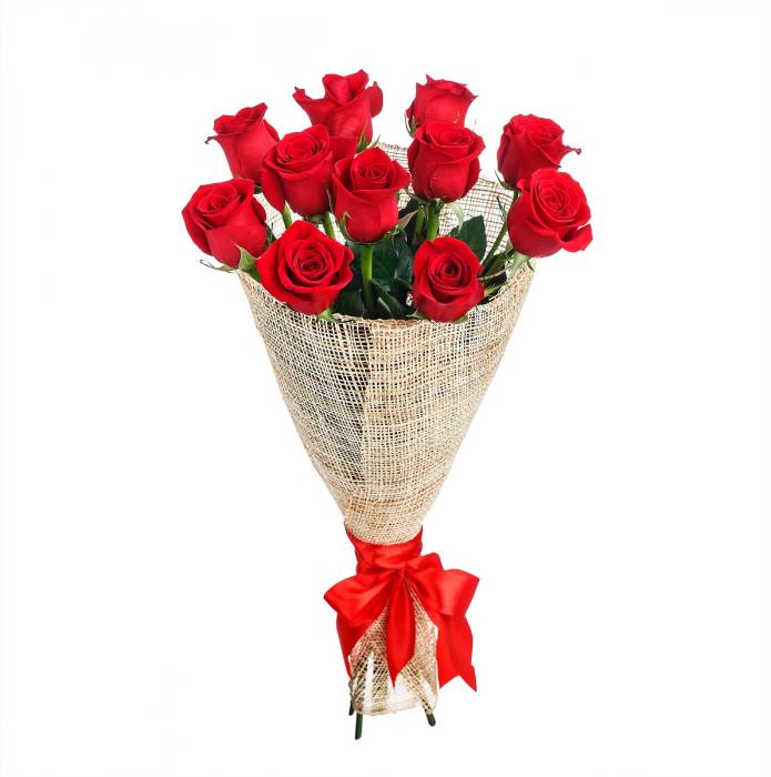 Buchet 11 trandafiri rosii [0]