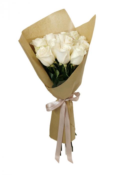 Buchet 15 trandafiri albi [0]