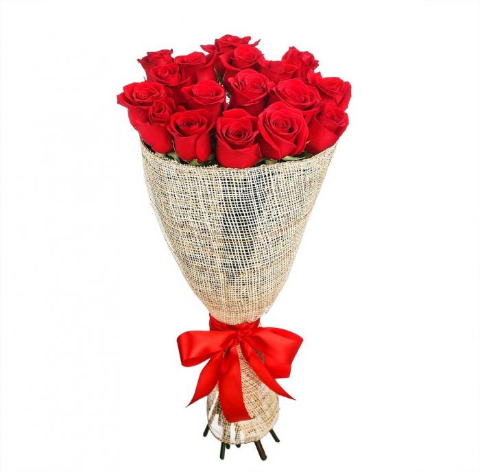 Buchet 17 trandafiri rosii [0]
