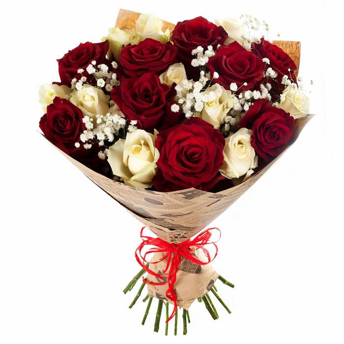Buchet cu 19 trandafiri mix [0]